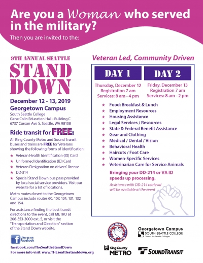 Seattle Stand Down Flyer