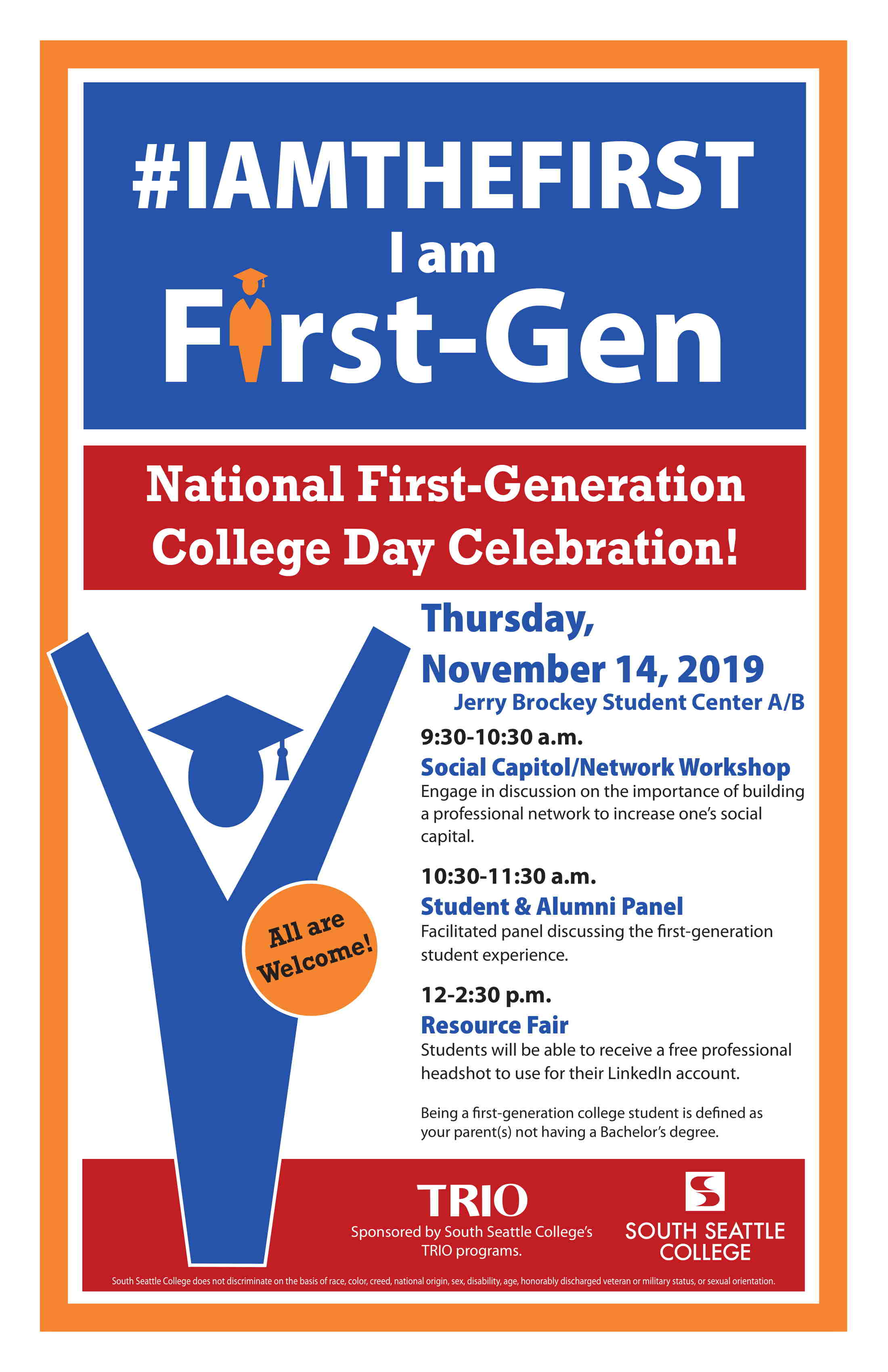 First Gen Celebration Flyer
